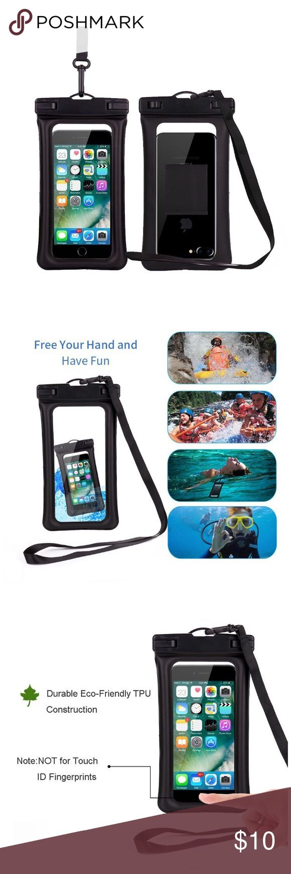 Waterproof Phone Case for iPhone 8 8plus 7 7plus Waterproof Case, Universal Waterproof Cell Phone Case Dry Bag Pouch With for iPhone 8 8plus 7 7plus 6S 6 6S Plus, Samsung Galaxy S8 S7 S6 ,Armband,Lanyard-Black Accessories Phone Cases