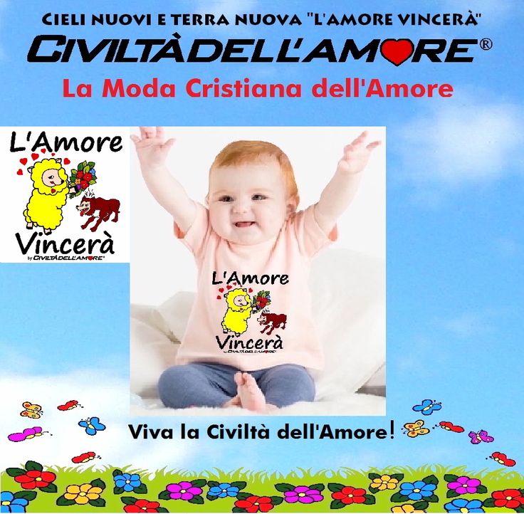 Questa bimba lo sa già che nel tempo che verrà l'Amore vincerà! Vesti il tuo bambino con la moda dell'Amore! Per questo modello segui la guida all'acquisto: http://www.civiltadellamore.net/guida-allacquisto/