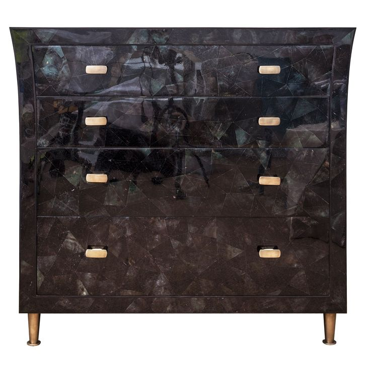 Buy Curzon Chest of Drawers in Green Penshell by Simon Orrell Designs - Made-to-Order designer Furniture from Dering Hall's collection of Contemporary Chests & Commodes.