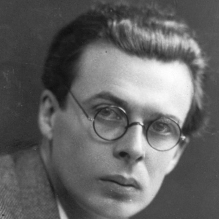 Author and screenwriter Aldous Huxley is best known for his 1932 novel 'Brave New World,' a nightmarish vision of the future.