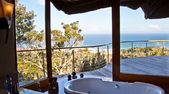 The view from Oceana Beach & Wildlife Reserve near Port Alfred, Eastern Cape, South Africa.  Sure Travel Blog: Top 10 Baths with a View in South Africa