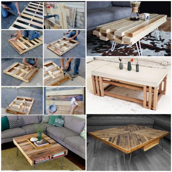 wohnzimmertisch aus holz selber bauen tolle diy ideen zum nachmachen m bel selber bauen. Black Bedroom Furniture Sets. Home Design Ideas