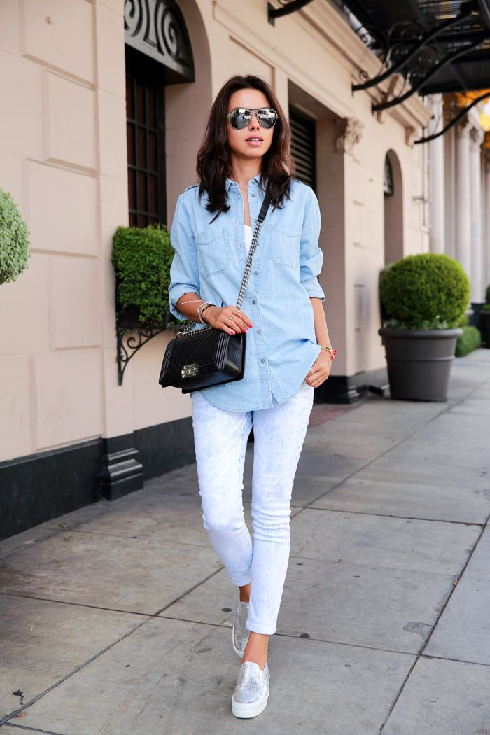 casual outfit with sporty shoes