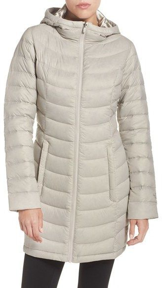 """Women's The North Face """"Jenae"""" Hooded Down Jacket On Sale Was $279 Now $186.93 Longer length, water repellent hooded down jacket. Click to see more https://api.shopstyle.com/action/apiVisitRetailer?id=537404904&pid=uid841-37799971-81"""