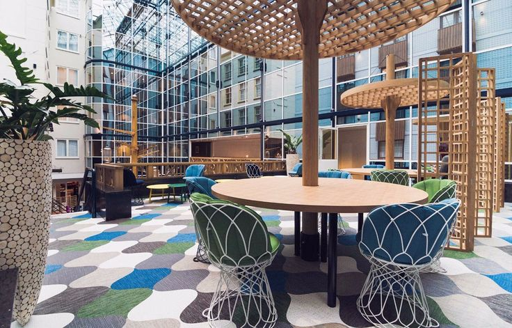 Radisson Blue Hotel Amsterdam uses Bolon floor tiles
