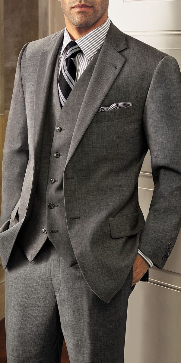 Designer Joseph Abboud  knows what it takes to create a fantastic suit. Distinctive features like: canvas chest-piece construction, hand-sewn buttons and working buttonholes denote attention to the details. Superior fabrics, like the 100% Italian wool featured on this new vested Abboud suit are most important.