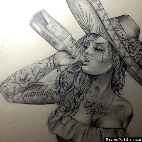 Pin Brownpride Drawings Lowrider Tattoo Pictures To Pin On Pinterest ...