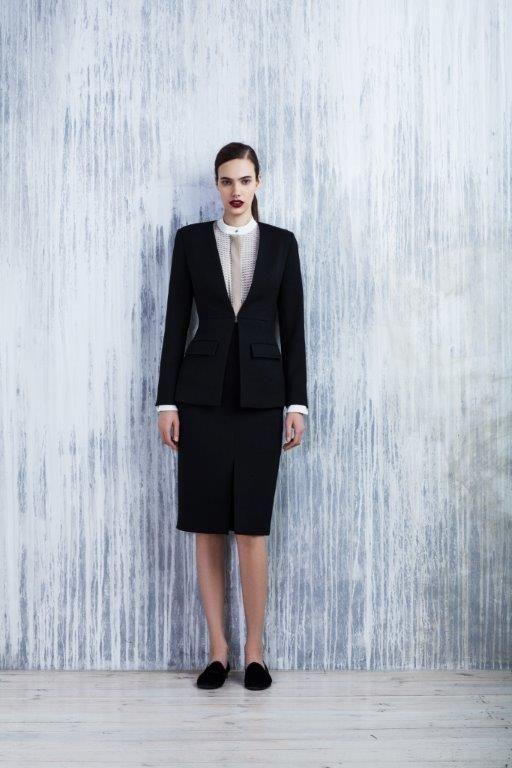 LUBLU Kira Plastinina FW14/15 black pencil skirt and blazer.