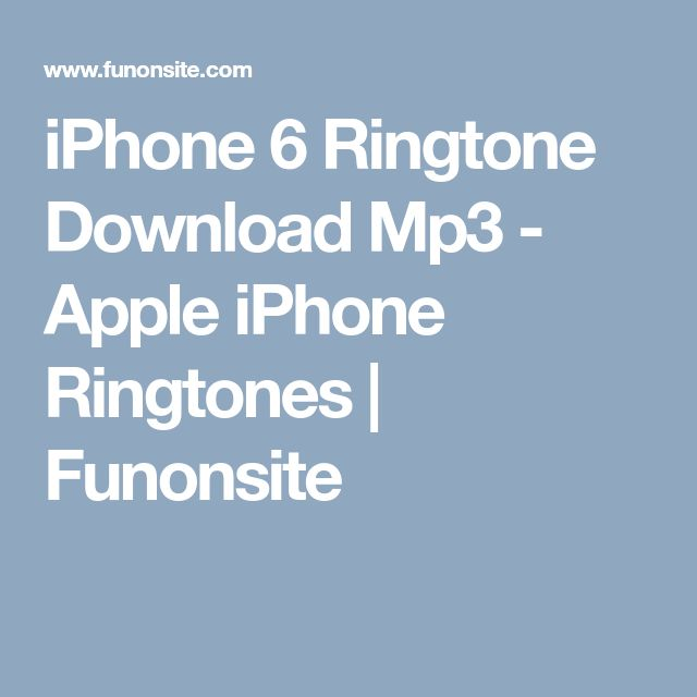 apple iphone ringtone mp3 download