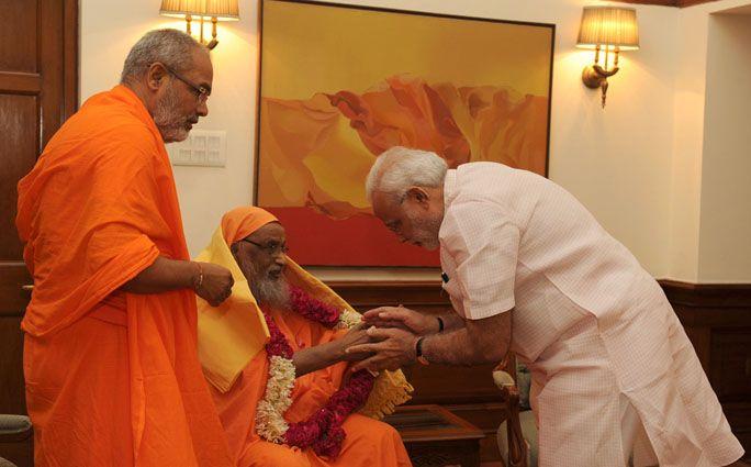 Arsha Vidya Gurukulam, Swami Dayananda Saraswati, calls on PM
