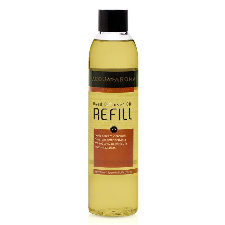 Acqua Aroma Everyday Collection Cinnamon & Spice Reed Diffuser Oil Refill 6.8 FL OZ (200ml)