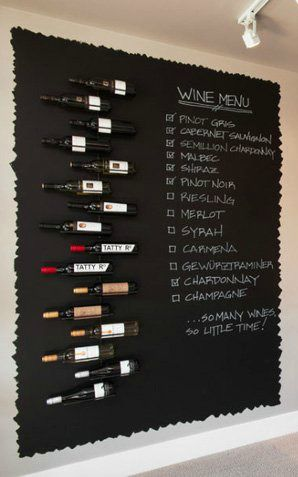 Let your kitchen storage double as wall decor with this inspiring DIY Chalkboard Wine Menu. If you love to host and entertain, you'll love the idea of adding this clever organization to your home.