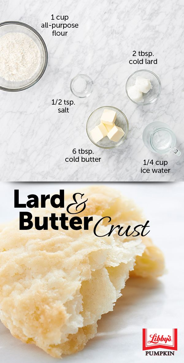 The flavor you get from the butter + lard pie crust combo is winning a lot of converts. Follow our standard pie crust method with these ingredients and start experimenting for yourself!