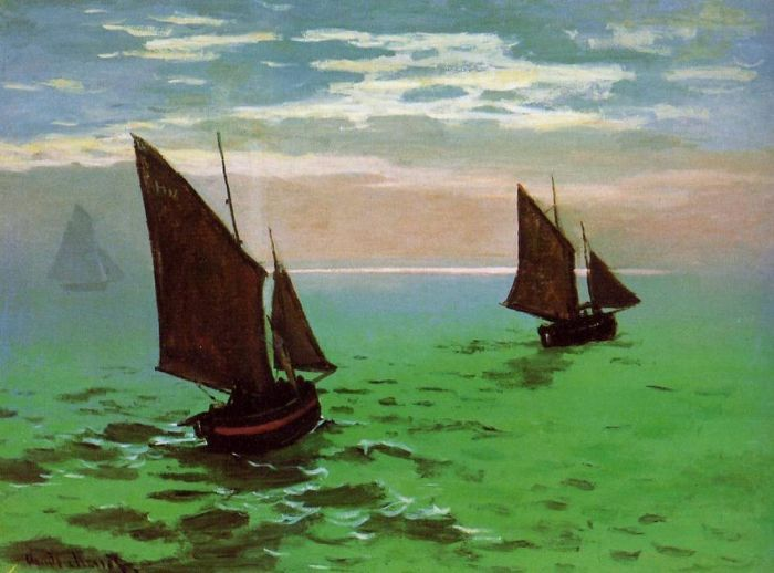 1866-69. Fishing Boats at Sea.