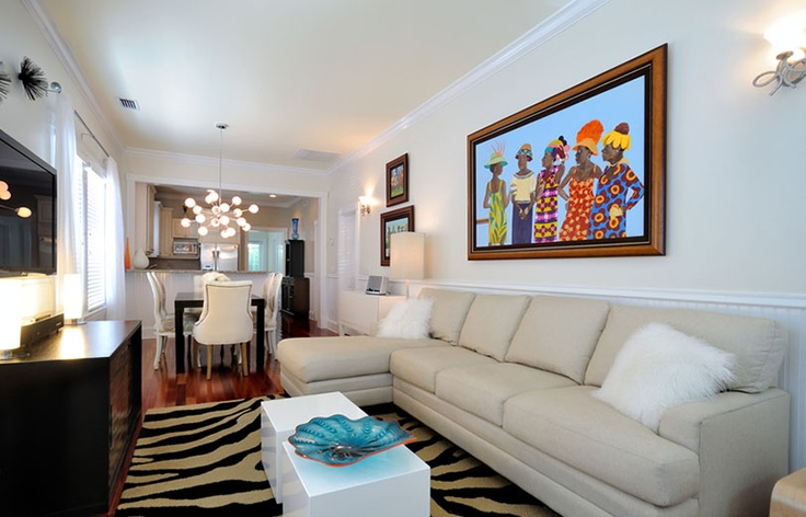 M Interior Design Key West Living Room