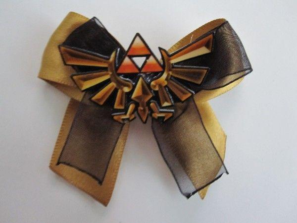 Triforce Hair Bow: Nerdy Hairs Bows, Bows Ties, Triforc Hairs, Pretty Sweet, Long Time, Garters, Hair Bows,  Bowtie,  Bow-Tie
