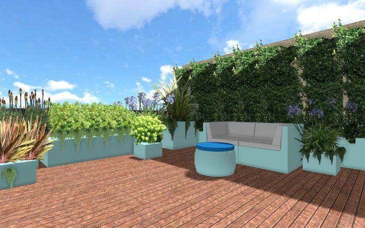 progettazione giardini e terrazzi milano con software a tre dimensioni, fioriere in resina e vasi su misura, pavimentazioni in legno e composito