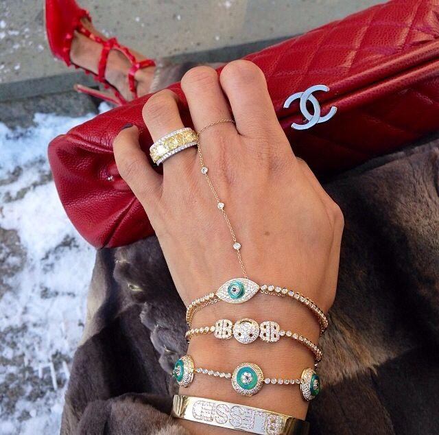 Lorraine Schwartz evil eye + Ofira jewelry ❤️