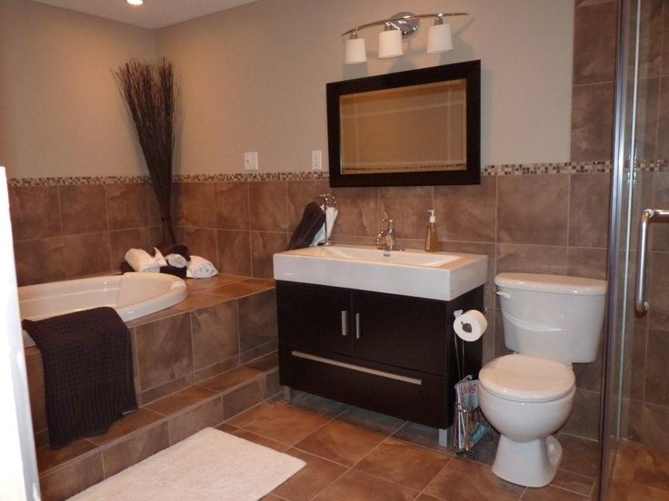 Best Travertine Images On Pinterest Travertine Basement - Dark brown bath rugs for bathroom decorating ideas