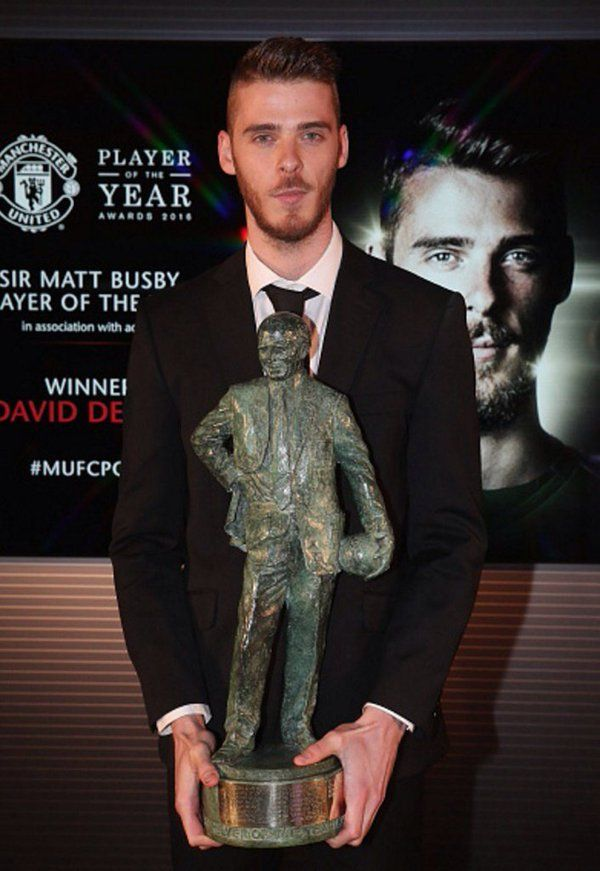 David de Dea, Fan's Player of the year 2015/16