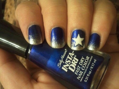 Dallas Cowboys nails...need my friend to take care of this for me!!