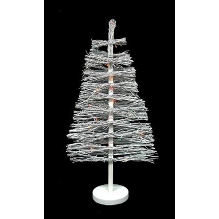 3' Pre-Lit White Country Twig Artificial Christmas Tree - Multi Lights