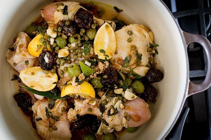 Chicken Mirabella, this recipe has meyer lemon and rosemary added to the traditional recipe.