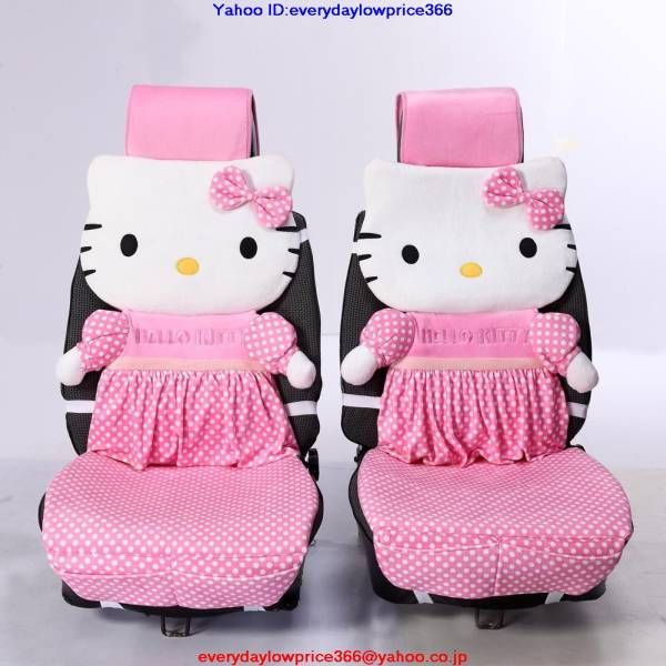 hello kitty car seat cover brooke 39 s style pinterest cars auction and seat covers. Black Bedroom Furniture Sets. Home Design Ideas