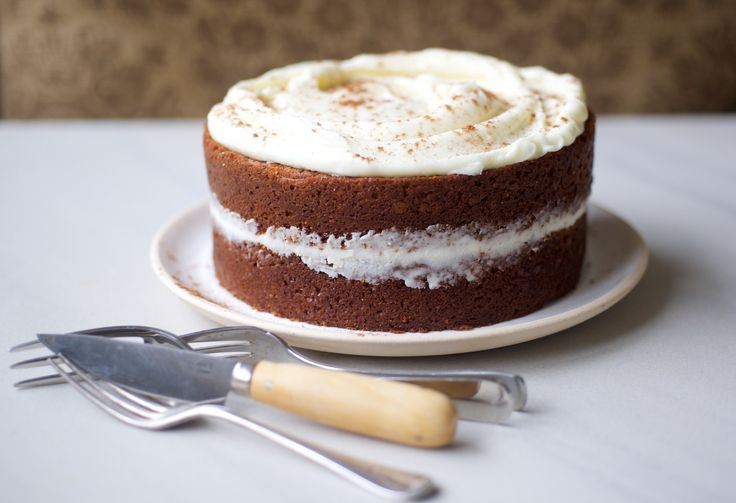 Spiced Apple Pumpkin Cake with Cream Cheese Frosting