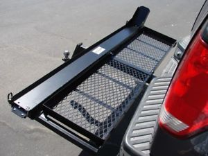 1000 LB Motorcycle Dirt Bike Hitch Carrier Hauler W/Loading Ramp & Cargo Basket