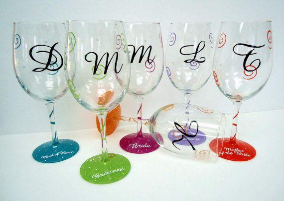 Hand Painted Wine Glasses custom wine glass  by Pendragonartworks