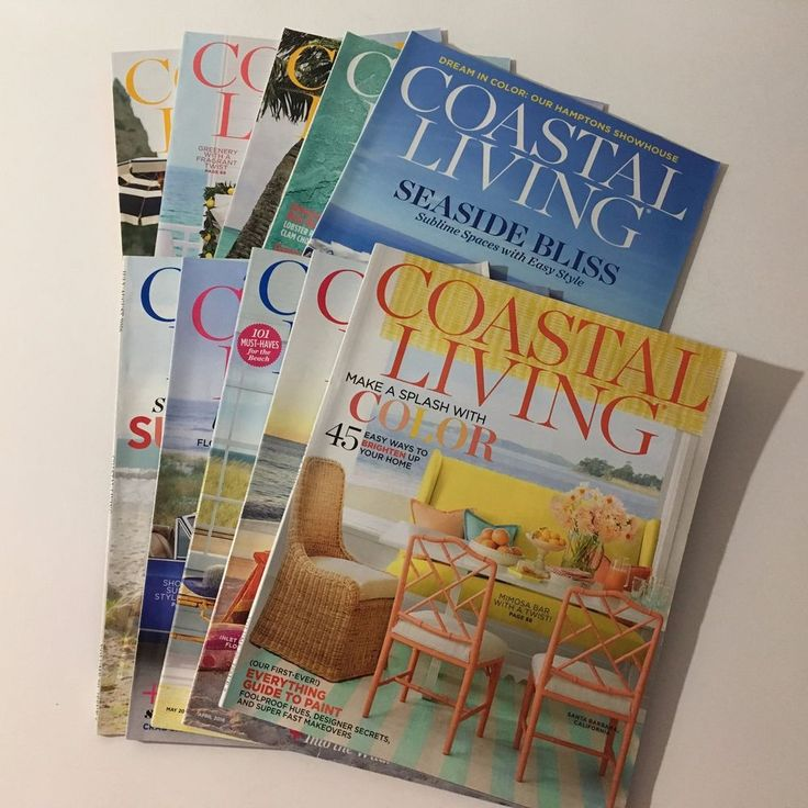 Coastal Living Magazine 10 Back Issues March - Dec 2016 Jan/Feb 2017 Beaches #coastalliving  #beaches #designsbym #ebay #shopsmall #blackfriday