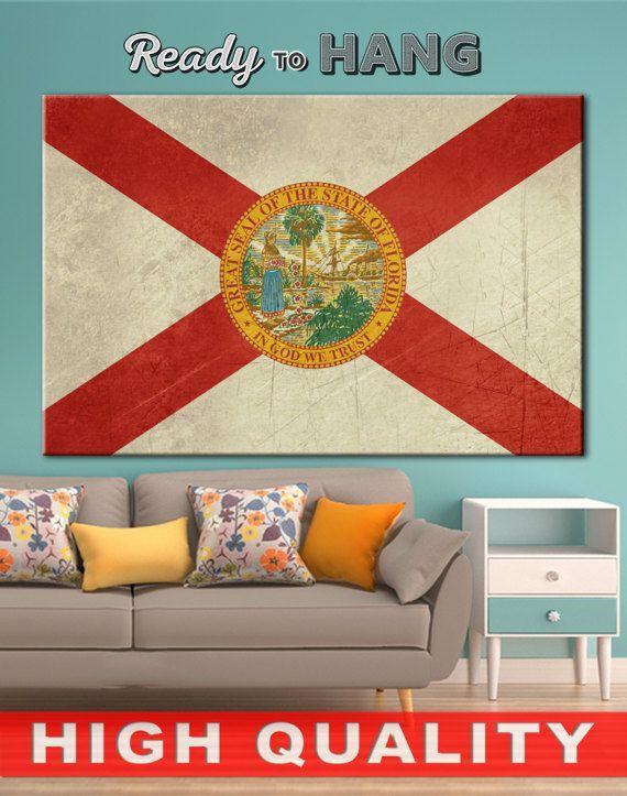 Florida state flag, Florida flag decor, Florida flag, Florida art, Florida flag print, Florida flag art, Florida flag sign, Florida prints    High quality canvas prints! #interiordesign #interiorstyle #decorating #decorate #decor #artforsale #CanvasPrint #CanvasPrints #CanvasArt #homedecor #officedecor #canvas #CanvasMafia #ideaforgift