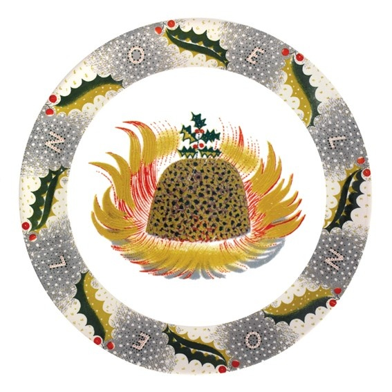 Eric Ravilious made this festive design for Wedgwood, and it has now found its way onto a Christmas card.