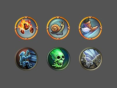'Fantasy Conflict' iOS  Android game icons by Steorra