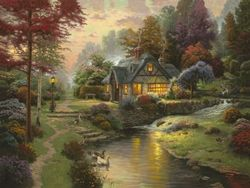 """Stillwater Cottage"" - How nice to fall asleep each night to the sound of the brook."