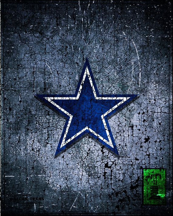 Dallas Cowboys Handmade Digital Scanned Print.  Proudly display your love of the Dallas Cowboys with this unique hand made print. Guaranteed to be a
