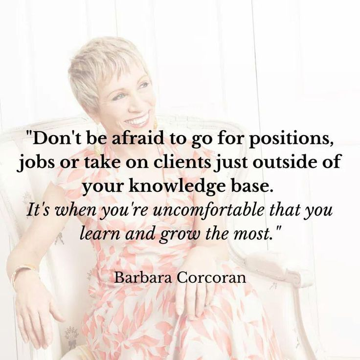 Barbara Corcoran #careeradvice  If you have any questions at all about buying or selling a home, I'm glad to help as a friend, not as someone that's trying to win your business :-) -Anne Nymark (813) 293-9236