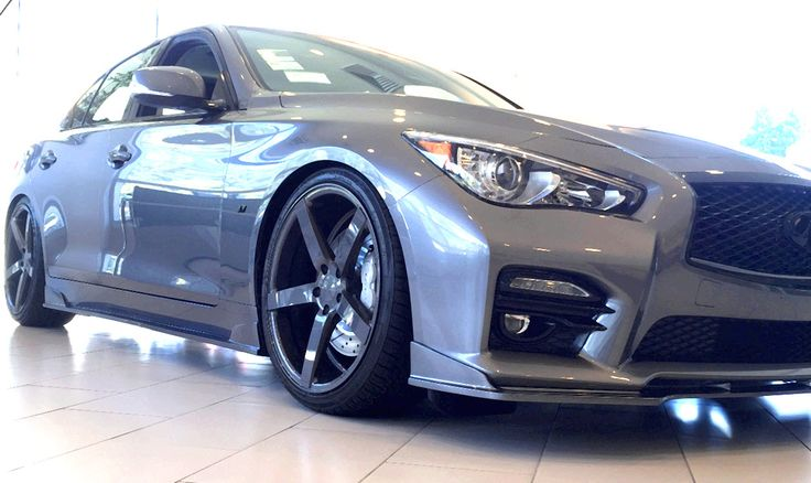 Custom Infiniti Q50 with Stillen Body Kit, #Stillen exhaust and intake, Stillen pulley, coil over suspension, cross drilled rotors, sport brake pads, custom trim paint and custom wheels and tires. Available now on our showroom floor.