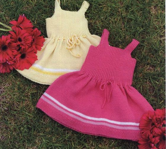 49 best Knitting patterns ~ Baby dresses (sleeveless) images on ...
