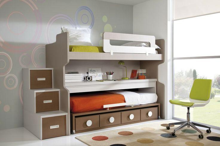 Soluci n para dormitorio juvenil peque o dormitorios - Dormitorio pequeno juvenil ...