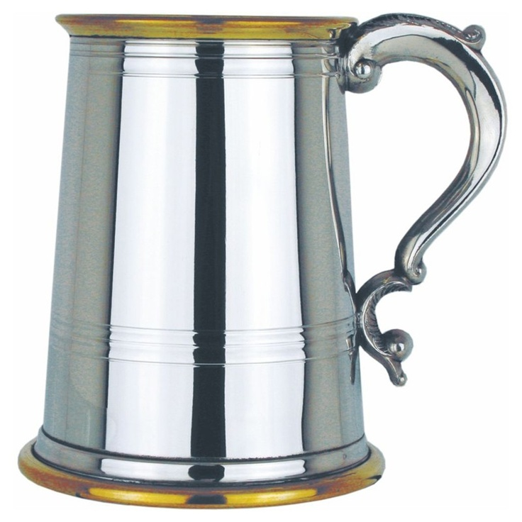 National Engravers - Double Brass Band Straight One Pint Pewter Tankard, £38.99 (http://www.national-engravers.co.uk/products/double-brass-band-straight-one-pint-pewter-tankard.html)