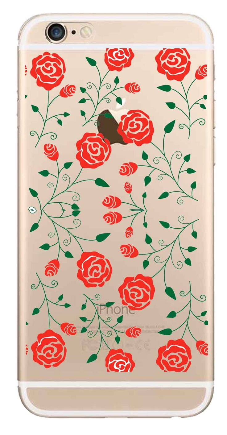 Whatskin DIY Style Color Drawing Flowers Series 16 Clear Back Cover for iphone 6