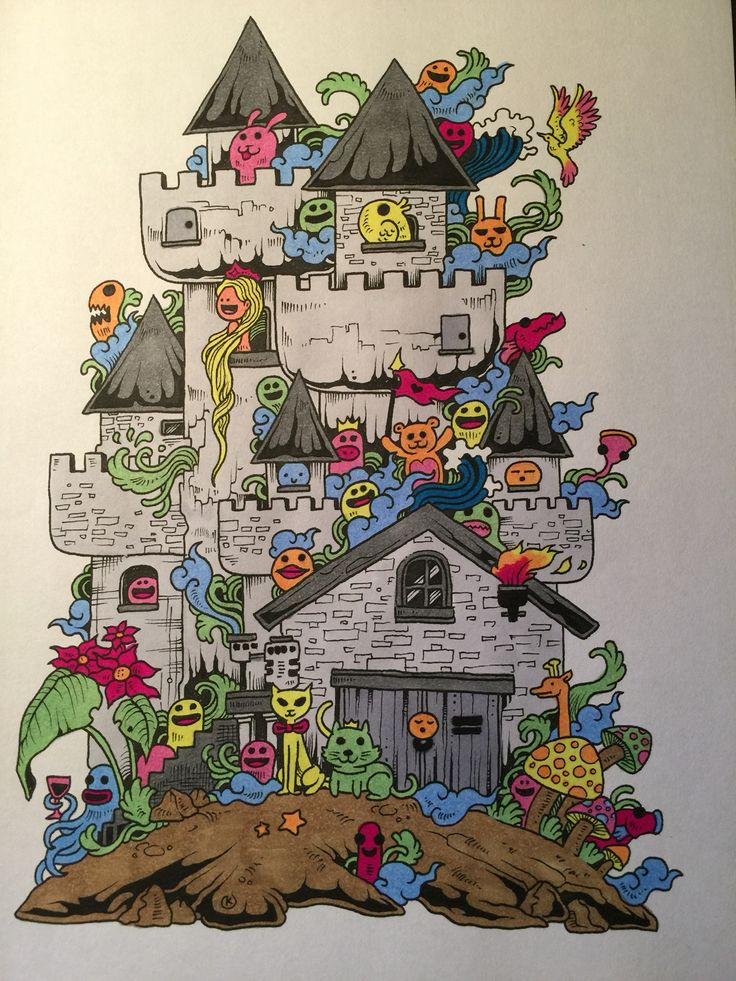 Doodle Invasion Adult ColoringColoring BooksColouringDoodlesDrawingsCool Stuff