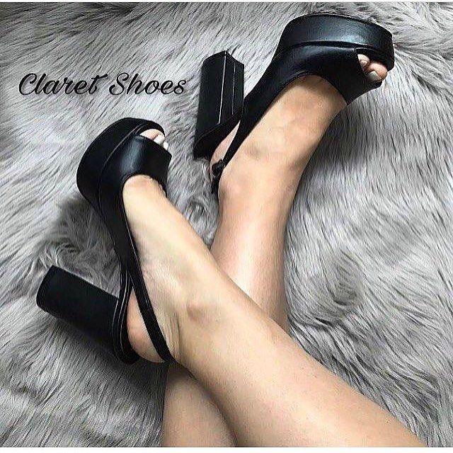 """27 Beğenme, 1 Yorum - Instagram'da Ayakkabı atölyesi (@claretshoescom): """"Siyah deri 4cm platformlu 9cm kalın topuk sandalet-89.90tl-sipariş için dm-whatsapp 05452295362"""""""
