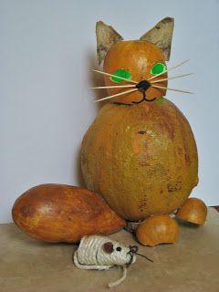 Ideas art for everyone, DIY - Joanna Wajdenfeld: Cats with pumpkin