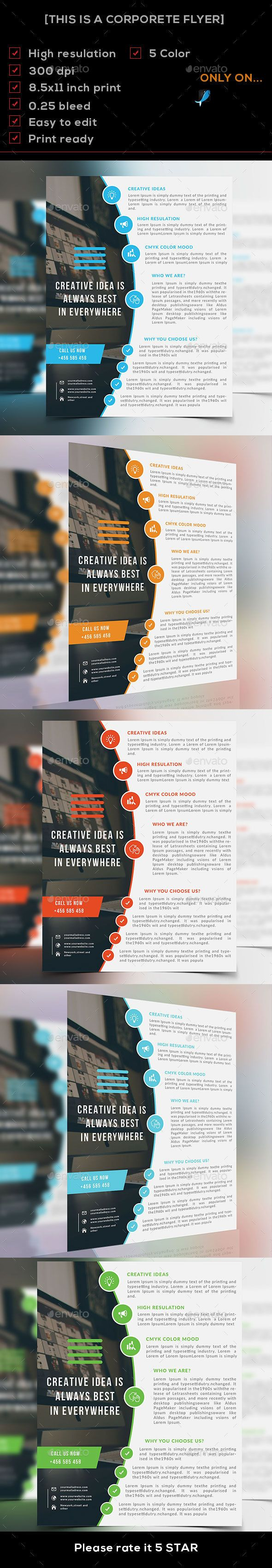 Corporate Flyer Template PSD #design Download: http://graphicriver.net/item/corporate-flyer/14328706?ref=ksioks