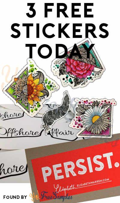 3 FREE Stickers Today: Miranda Marshall Art Sticker, Persist Sticker & Offshore Affair Sticker