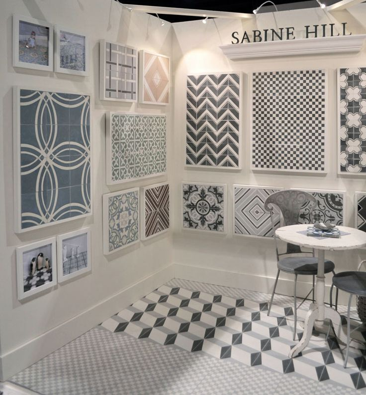 sabine hill cement tiles for boysu0027 bathroom floor and open shower stall they