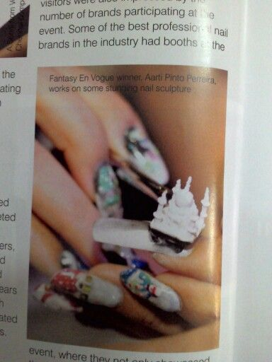 3d nail art by Aarati Pinto Pereira